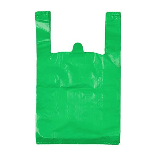 T-Shirt Bags, Plastic Bags with Handles Bulk, Bolsas De Plastico para Negocio, Grocery Bags Retail Shopping Bags Merchandise Bags for St.Patrick'sDay, 12x20inch (100pcs)