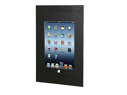 TabLines TWE035B Tablet Wandeinbau für Apple iPad 5 (2017) mit Homebutton schwarz