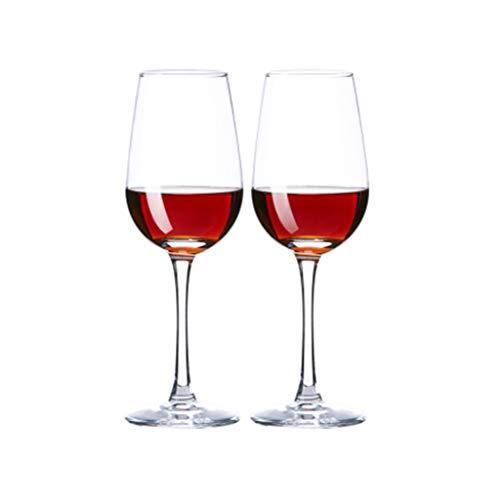 FFFLY Copas De Vino Tinto, Juego De 2 Copas De Vino, Cristal Transparente, Tallo Largo, Hogar, Restaurantes Y Fiestas