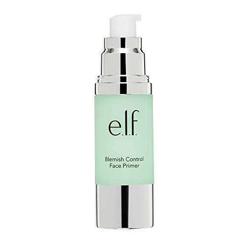 e.l.f, Blemish Control Face Primer - Large, Long Lasting, Skin Perfecting, Controls Breakouts and Blemishes, Matte Finish, Infused with Salicylic Acid, Vitamin E & Tea Tree, 1.01 fl Oz