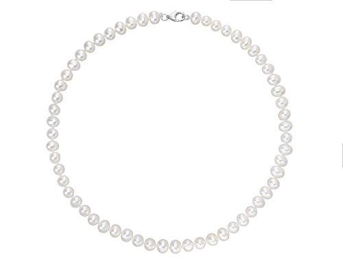 VIKI LYNN - Collana da donna con perle coltivate d'acqua dolce e Argento, colore: bianco, cod. AQEN002798