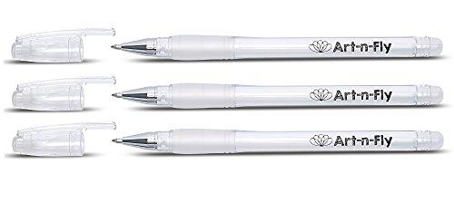 Hochwertige Gelstifte Gelschreiber Weiß Gelstift Set für Künstler Dünne Spitze Premium Gelroller Tintenroller zum Zeichnen Gel Fineliner Stift (3, Weiß)