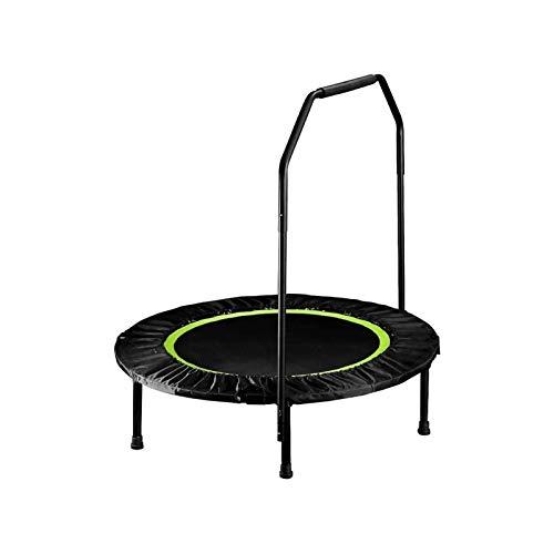 Sdesign Rebandador Plegable |Mini trampolín para Fitness |Bouncer Interior con barandilla |Inicio Equipo de Gimnasio |Ejercicio de Cardio de pérdida de Peso