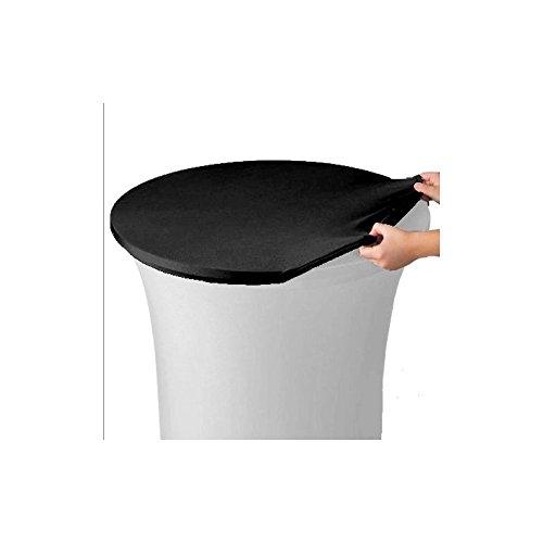 LM-Distribution Housse de Plateau Table Mange Debout ø 80 cm - Noir