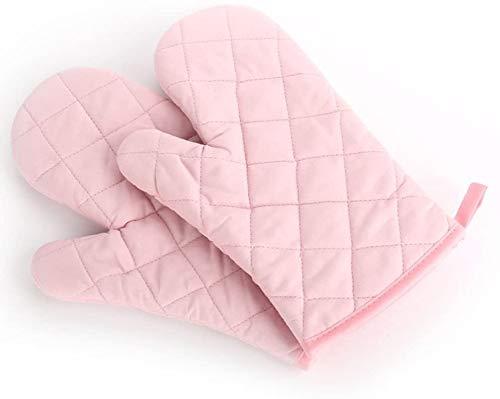 Backen Backofen Handschuhe spezielle Wärmedämmung und hitzebeständige Handschuhe, 1 Paar,Rosa