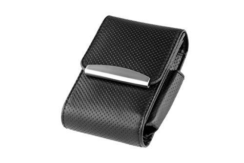 Zigarettenetui ECHT Genuine Leder Nizza Schwarz für Normale Schachteln + 100 er - LK Trend & Style