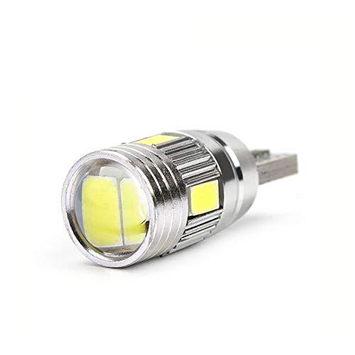 Timetided Bombilla de luz de Coche T10 5630 6smd W5w Coche 12v l¨¢mpara de luz Trasera de Freno de Cola Led l¨¢mpara de Bombilla de CU?a Canbus de luz Led de Coche