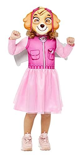 amscan 9909114 Disfraz de Paw Patrol Skye Halloween para niñas, rosa, 4-6 años