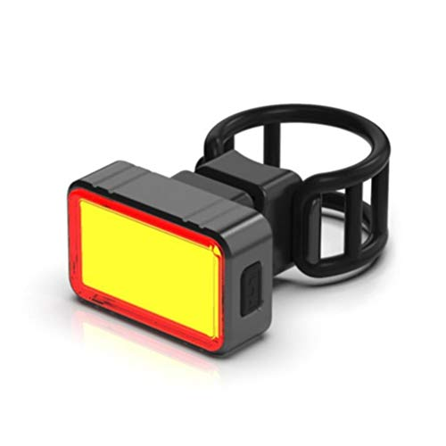 FEIDAjdzf Luz trasera LED sensor de gravedad de bicicleta, USB recargable COB inteligente freno G sensor luz trasera, luz trasera 3 modo de iluminación luz de bicicleta