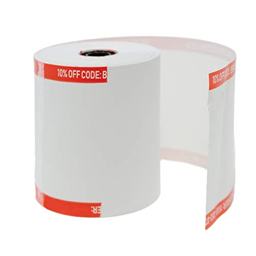(50 GSM Core) 3 1/8 x230 thermal paper roll 50 pack (non toxic) 1 PLY Thermal Paper Cash Register Rolls BPA Free - BuyRegisterRolls