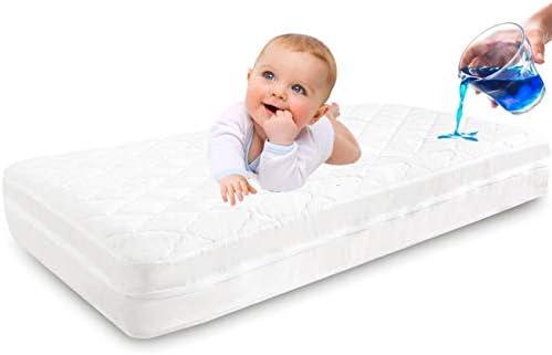 Zippered Crib Mattress Encasement 100 Waterproof Crib Mattress Protector Size 53X28in Six Sides product image