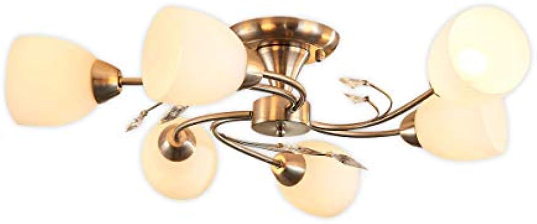 Lampenwelt Deckenlampe 'Tatas' dimmbar (Modern) in Wei aus Glas u.a. für Wohnzimmer & Esszimmer (6 flammig, E14, A++) - Deckenleuchte, Lampe, Wohnzimmerlampe