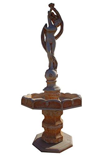 Antikes Wohndesign Steinbrunnen Springbrunnen Kaskade Zierbrunnen Brunnen Wasserspiel Gartenbrunnen (Terracotta)
