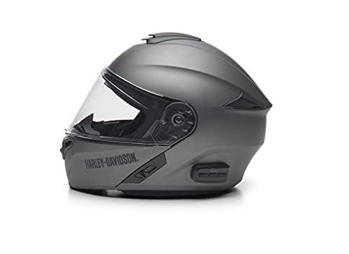 HARLEY-DAVIDSON Outrush R-Modular Modularhelm - Motorradhelm Sena Bluetooth mit abnehmbarem Sonneblende Visier FM Radio, L