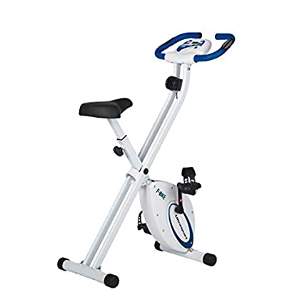 Ultrasport F-Bike estática, Aparato doméstico, Bicicleta Fitness Plegable con Consola y sensores de Pulso en Manillar, Unisex, Azul Marino, OS