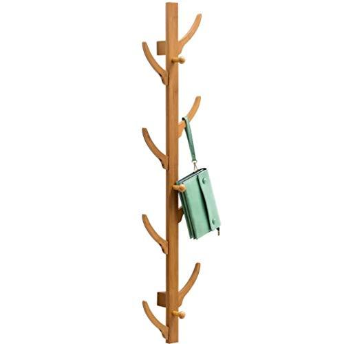 Alvndarling houten kapstok met 6/8 haken om kleren, hoeden, standaard met robuust en strak ontwerp op te hangen, perfect voor entree of hal, eenvoudige montage