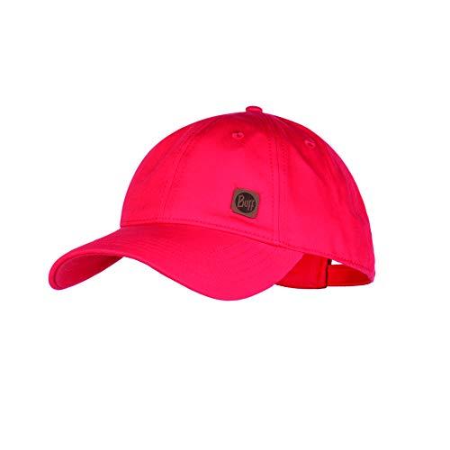 Buff Damen Solid Baseball Cap, Red, One Size