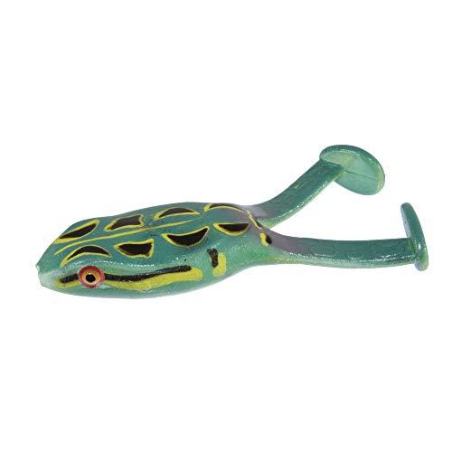 Zoom Baits 135412 Floating Frog, 4', 3Pk 1/2 0z, Zebra Green