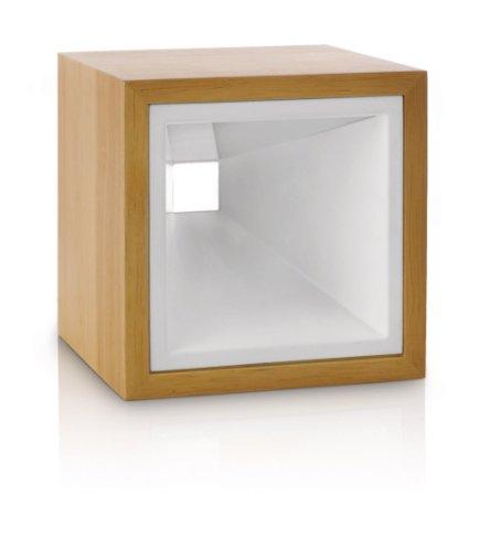 Philips InStyle Kubiz LED Tischleuchte, 2-flammig, hellbraun, holz, 432687316