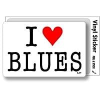 ILBT-134 アイラブステッカー I love BLUES (ブルース) ステッカー