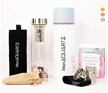 Crystal Water Bottles Rose Quartz I Infused Water Bottles for Women I Crystal Water Bottle Come product image