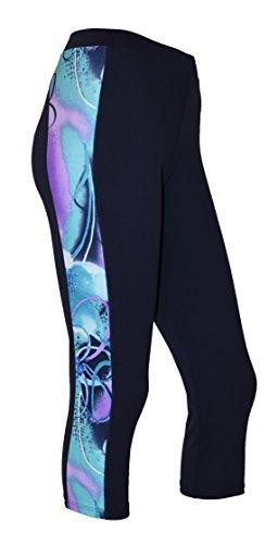 Private Island Women Beach Walk Plus Size UPF 50+ Capri Swim Pants Rash Guard (XXXL, NwJV)