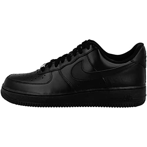 Nike Wmns Air Force 1 '07 - Zapatos Mujer, Negro (Black / Black), 39 EU