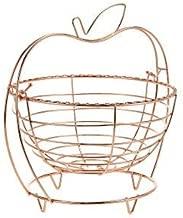 Harmony Apple Shape Fruit Basket,Silver