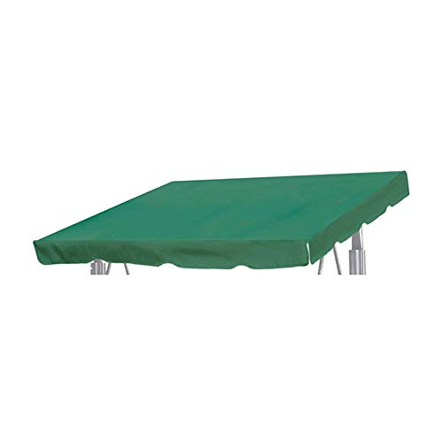 """JIEPOLLY Patio Outdoor 76.77""""x43.30"""" Swing Canopy Replacement Top Porch Canvas Top for Yard Seat Furniture, Green"""