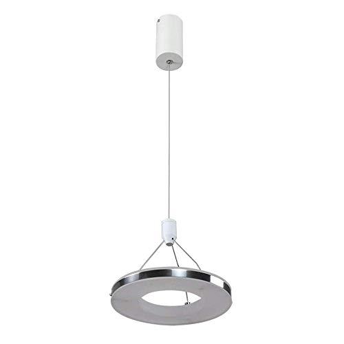 DXX-HR Ceiling Light,LED Ring Pendant Light Restaurant Hanging lamp 11W Dining Table Personality Round Acrylic Decorative Lights Height Adjustable Ø20cm Neutral Light 4500K Einzelkopf