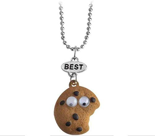 Cookie and Milk Pendant Necklaces for Women Girls Kids Jewelry Best Friends Milk Biscuit Pendant Hanging Necklace BFF Jewelry (Biscuit necklace)