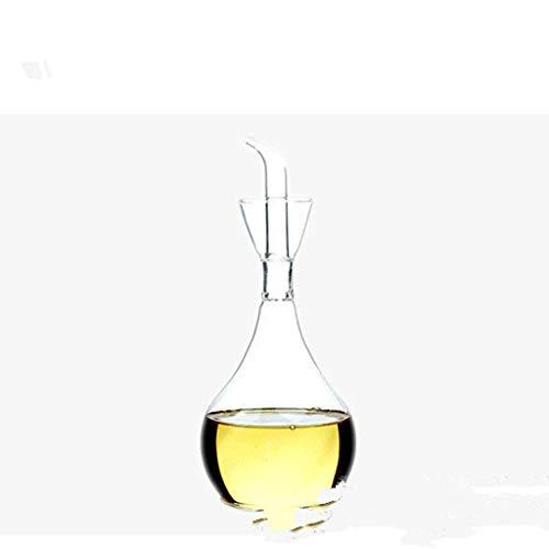 ZSQHD 1 unid Vidrio Jarra a Prueba de Fugas pote de Aceite vinagre Olla Salsa de Soja Botella de Aceite vinagre Botellas sésamo Aceite de Aceite Suministros de Cocina (Size : 1000ml)