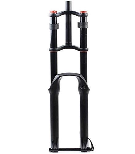ZHTY Horquilla de suspensión para Bicicleta 26/27.5/29'Air MTB Doble Hombro Descenso Rappel Amortiguador Amortiguador Freno de Disco Am/FR Recorrido 130mm Horquilla de suspensión para Bicicleta