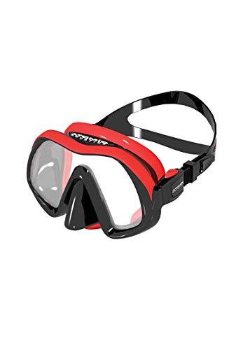 ATOMIC - SubFrame Single Window Frameless red-Black Tauchmaske
