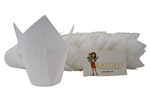 Katgely White Tulip Baking Cups (Pack Of 200):