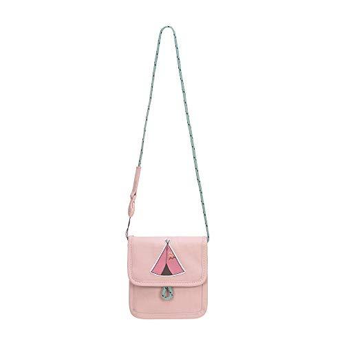 LÄSSIG Brustbeutel Brusttasche Umhängetasche Geldbeutel, Kordel mit Kindersicherung/Mini Neck Pouch, Adventure Tipi, 13 cm