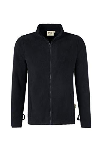 Hakro Herren Heavy Fleece Jacke Manitoba, HK837-schwarz, S