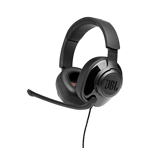 JBL Quantum 200 – Fones de ouvido para jogos circum-auriculares – Preto, grande