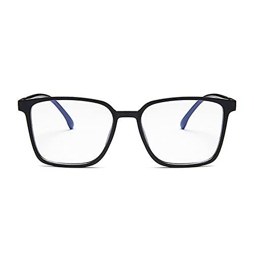 HAIGAFEW Montura De Gafas De Leopardo Sexy Montura De Gafas Cuadradas Lente Transparente Montura De Gafas De Luz Anti-Azul Mujeres Proteger Los Ojos-Negro