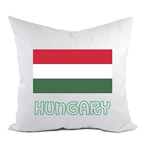 Tipolitografía Ghisleri cojín Hungría bandera funda y relleno 40 x 40 cm de poliéster