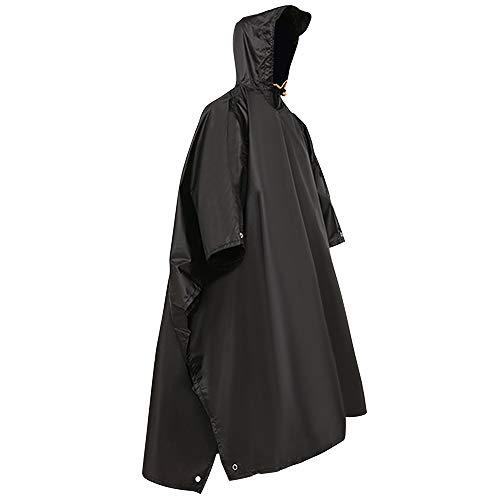 HOSPAOP 3 in 1 Rain Poncho, Waterproof Rain Poncho, Multifunctional Rainwear with Hoods Adult Man and Woman Waterproof Reusable Raincoat for Cycling Hiking Camping Outdoor