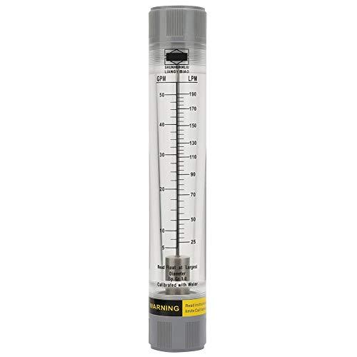 Liquid Flow Meter,Flowmeter Flow Meter, LZM-25G Acrylic Plexiglass Tube Type Liquid Flowmeter for Water G1-1/2(5-50GPM)