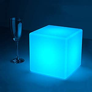 crib bedding and baby bedding loftek led light cube: 7-inch rgb cube light with remote, 16 colors changing and 4 level dimming cool mood lamp, waterproof and rechargeable cordless bedside lamp, perfect for kids nursery and toys
