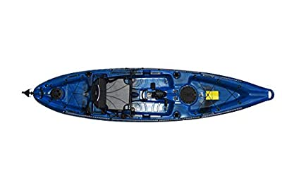 mako12 Riot Mako 12 Sit-on-Top Kayak with Impulse Pedal Drive, 12', Neptune Blue/Black from Sunny Concord