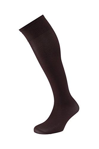 EJECUTIVO - Calcetines Largos - Con Talla - Para Hombre - Tacto muy confortable, agradable y cómodo - Color Marrón - Talla M - Pack de 3 calcetines