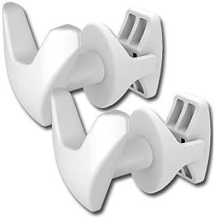 Linea Handy - Juego de 2 ganchos para toallas, sin necesidad de hacer agujeros en los azulejos ni de pegamento porque se fijan directamente al radiador de las toallas, color blanco
