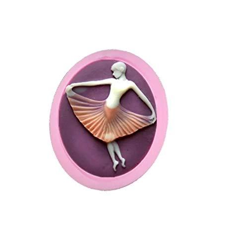 HGFJG Nuevo Molde De Pastel De Azúcar para Niña De Ballet por...