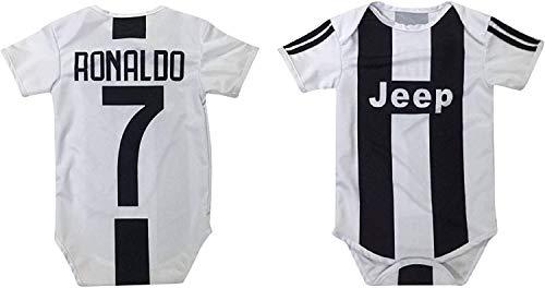 Kitbag Cristiano Ronaldo #7 Soccer Jersey Baby Romper Infant Toddler Onesie Premium Quality (3-6 mo, Ronaldo #7)