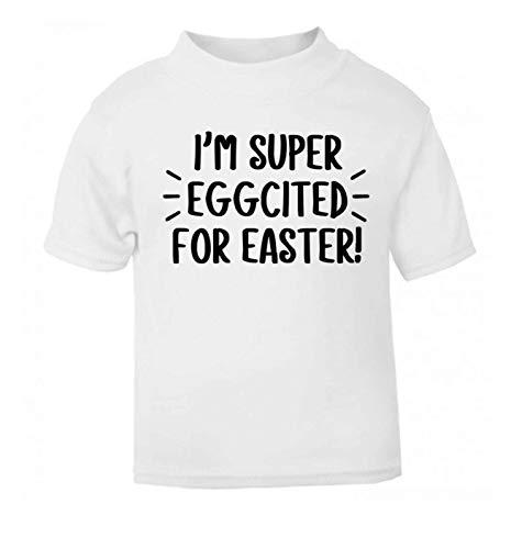 Flox Creative T-Shirt pour bébé Inscription Have an Eggcellent Easter - Blanc - 2 Mois