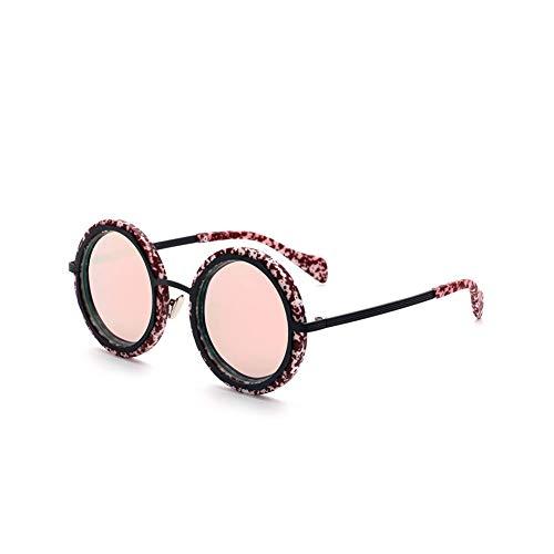 Lanrui Gafas de Sol polarizadas for el Marco de la Mujer protección UV Fotocromáticas Rosa Rayado por conducción Viajes de Compras de la Comida campestre (Color : A)